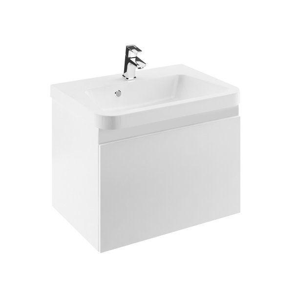 RAVAK SD 10° 550 mm-es mosdó alatti szekrény / normal kivitel / jobbos / fényes fehér / 10 fok / cikkszám: X000000736
