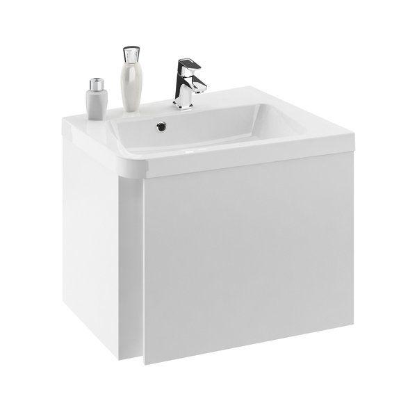 RAVAK SD 10° 650 mm-es mosdó alatti szekrény / sarok kivitel / balos / fényes fehér / 10 fok / cikkszám: X000000745
