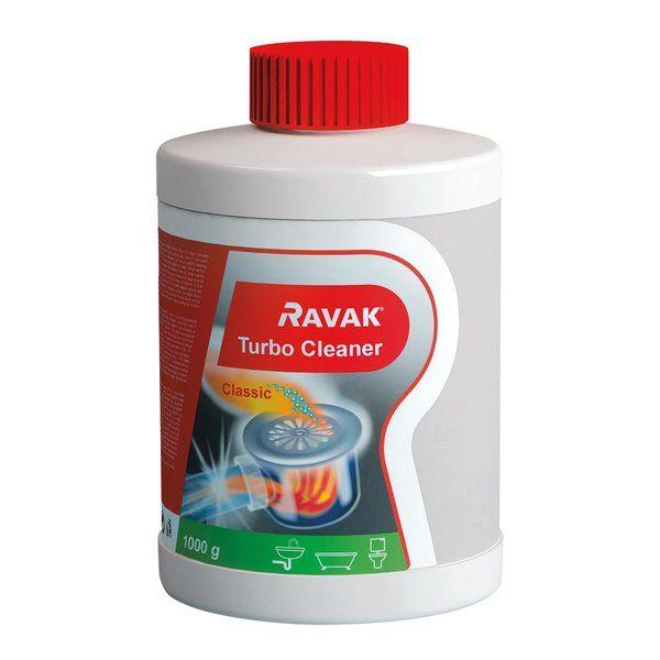 RAVAK Turbo Cleaner lefolyó tisztító granulátum (1000 g), cikkszám: X01105