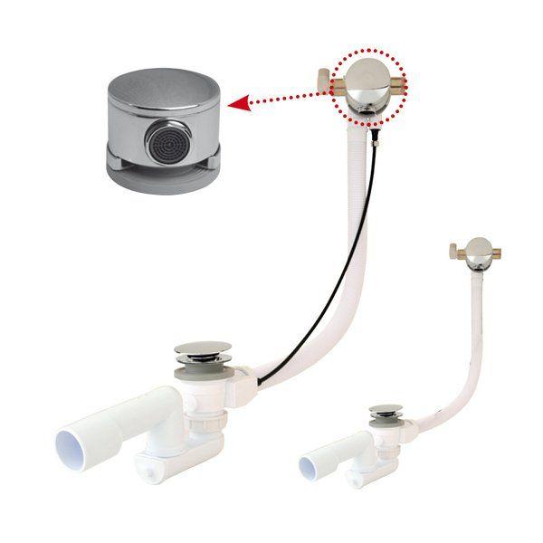 RAVAK Kádfeltöltés / kádfeltöltő a túlfolyónál, kád le- és túlfolyószettel, ClickClack rendszerrel, fém kivitel, krómozott fedéllel / X01374