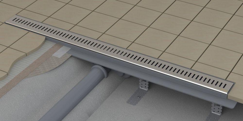 Ravak ZEBRA 750 OZP zuhanyfolyóka - műanyag lefolyóval és rozsdamentes acél ráccsal, cikkszám: X01433