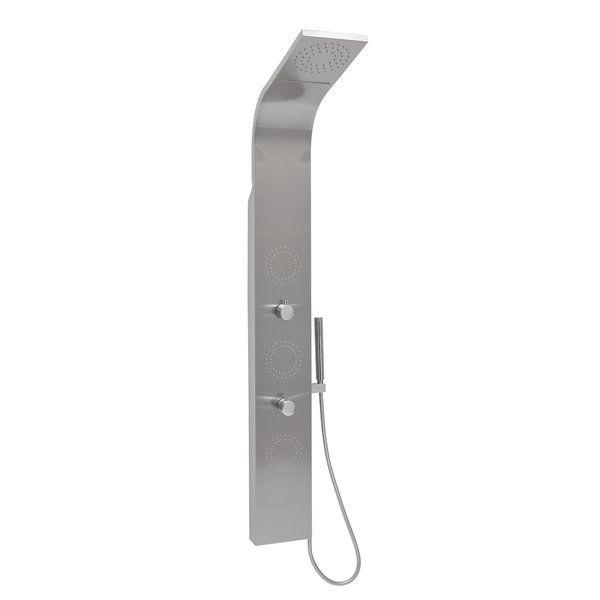 RAVAK Totem JET INOX rozsdamentes acél hidromasszázs panel zuhanykabinokba, cikkszám: X01453 / zuhanypanel Kifutó termék, a készlet erejéig!
