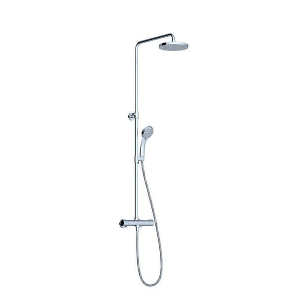 RAVAK TE 091.00/150 Zuhany oszlop termosztátos csapteleppel, állítható fej- és kézizuhannyal / cikkszám: X070058