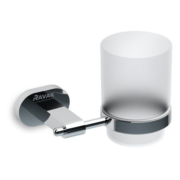 RAVAK Chrome Pohártartó (üveggel) CR 210, cikkszám: X07P188