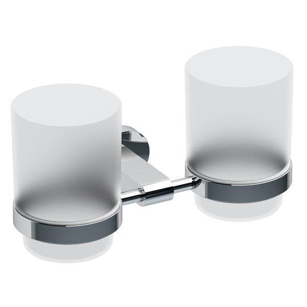 RAVAK Chrome Dupla pohártartó (üveggel) CR 220, cikkszám: X07P189
