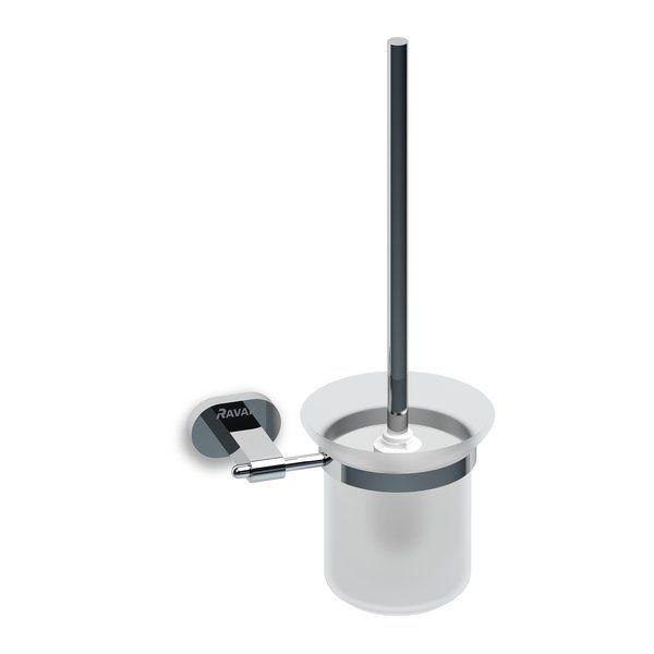 RAVAK Chrome Fali WC kefe tartó (üveggel) CR 410, cikkszám: X07P196