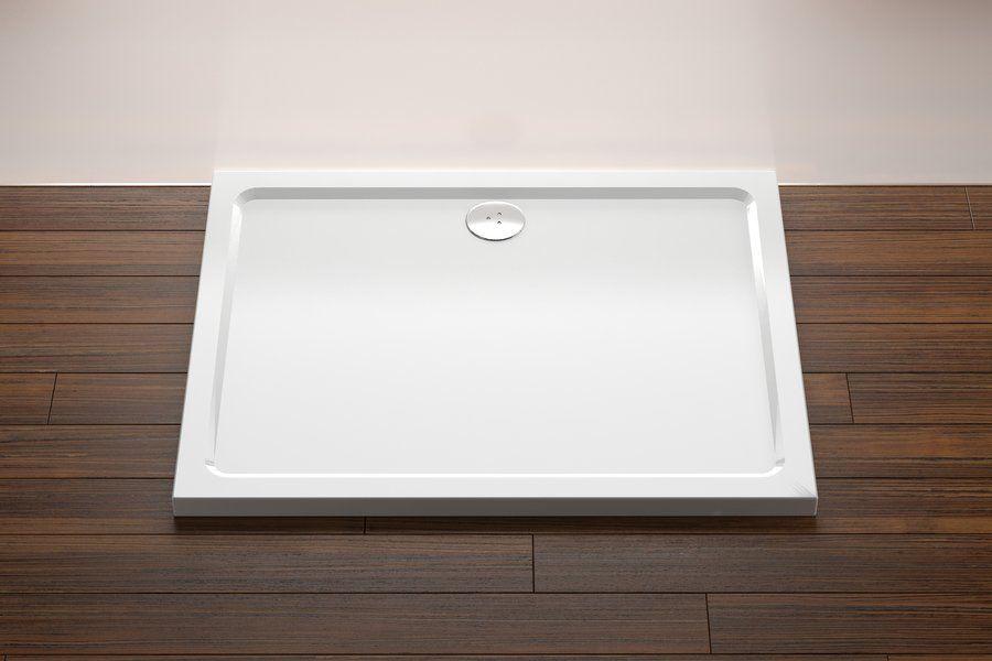 RAVAK GALAXY Gigant LA szögletes zuhanytálca, 100 x 80 cm-es / extra alacsony kivitel / fehér / XA01A401210