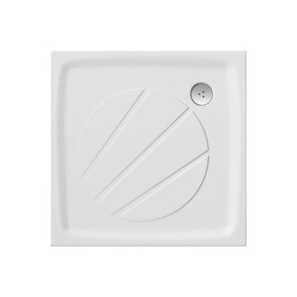 RAVAK GALAXY Perseus Pro 90 szögletes zuhanytálca öntött műmárványból / 90 x 90 cm-es / csúszásmentes / extra alacsony kivitel / fehér / XA037701010