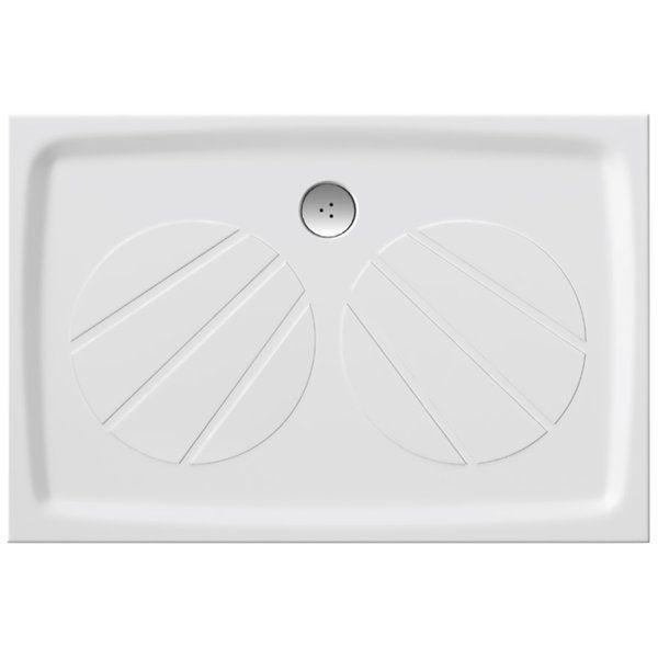 RAVAK GALAXY Gigant Pro 100 x 80 cm-es szögletes / téglalap alakú zuhanytálca öntött műmárványból / csúszásmentes / extra alacsony kivitel / fehér / XA03A401010