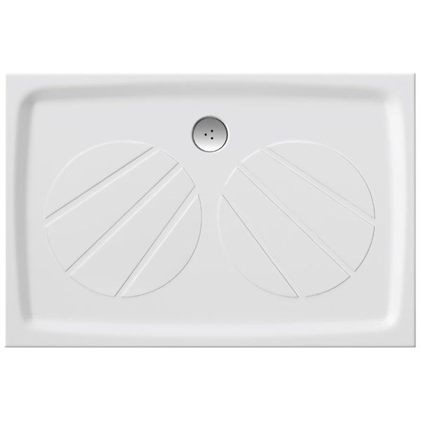 RAVAK GALAXY Gigant Pro 120 x 80  cm-es szögletes / téglalap alakú zuhanytálca öntött műmárványból / csúszásmentes / extra alacsony kivitel / fehér / XA03G401010