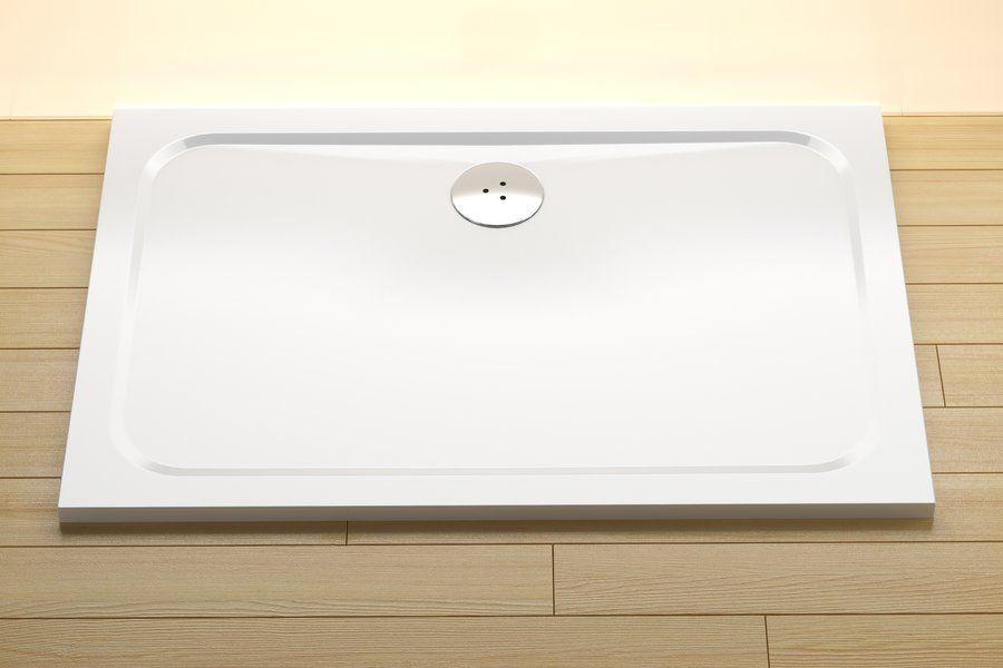 RAVAK GALAXY Gigant Pro CHROME 100 x 80 cm-es szögletes / téglalap alakú zuhanytálca öntött műmárványból / csúszásmentes / extra alacsony kivitel / fehér / XA04A401010