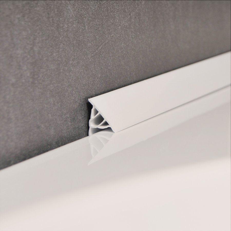 RAVAK Vízvető léc 10 / 1100 (fehér) zuhanytálcához / Szegőléc, maximum 17 mm-es rés lezárásához / XB451100001