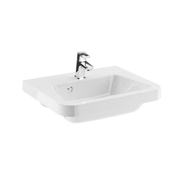 RAVAK Mosdó 10° 550 fehér mosdó, furattal / 10 fok / 55 x 45 cm-es / 550 x 450 cm-es, cikkszám: XJI01155000