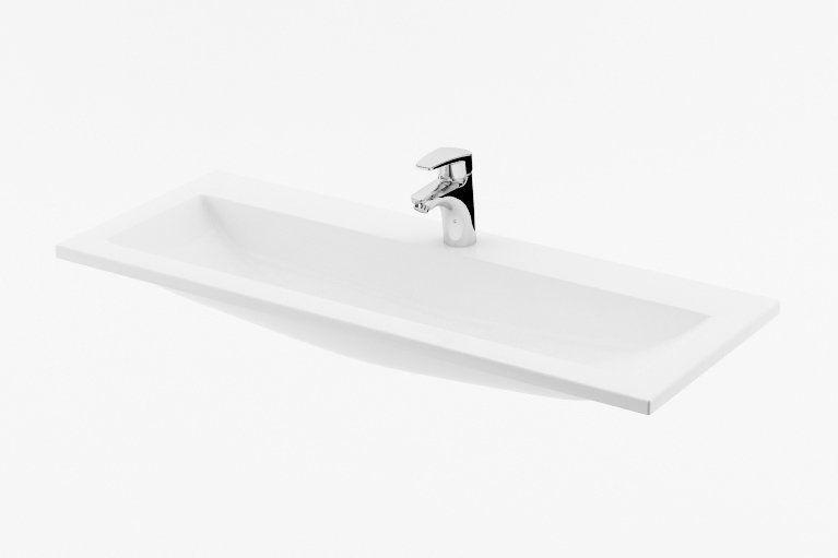 RAVAK Clear 1000 mosdó fehér nyílással, 1000 x 380 cm-es / XJJ01110000