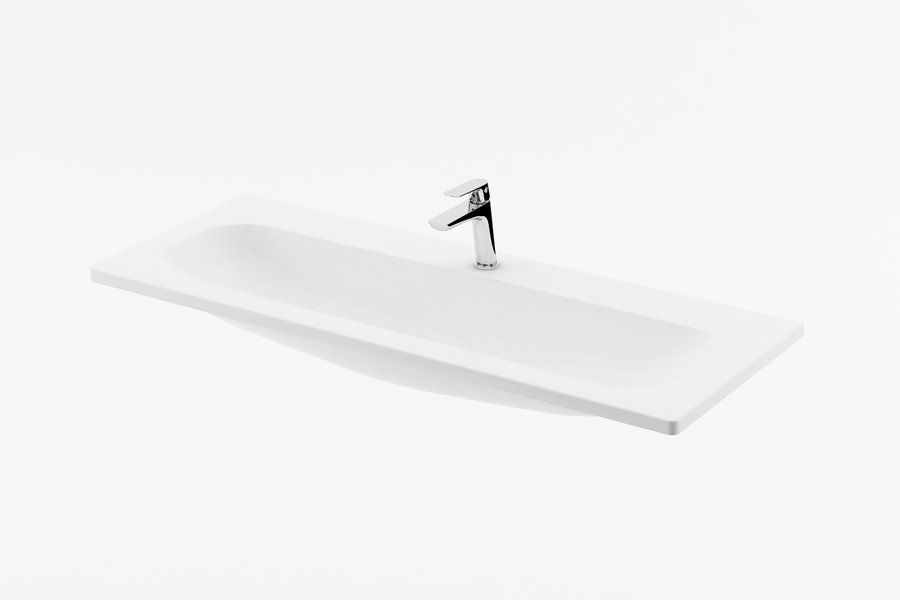 RAVAK Clear 800 mosdó fehér nyílással, 800 x 400 cm-es / XJJ01180000