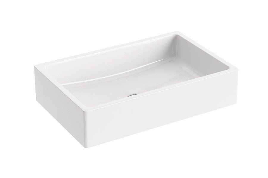 RAVAK Formy 01 500 D mosdó, szögletes, modern, túlfolyó nélkül, 50 x 39 cm-es / 500 x 390 cm-es / fehér / XJL01250000
