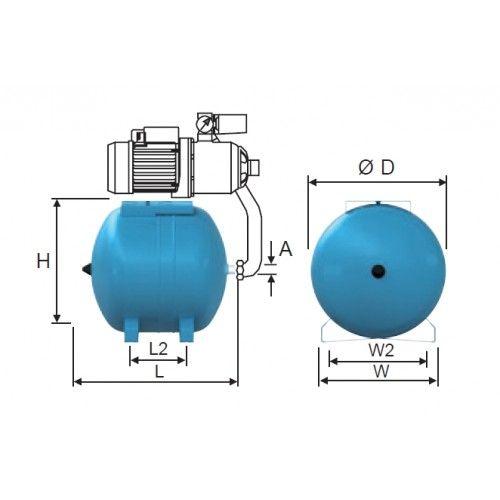 Reflex Refix HW 50 hidrofor tartály fekvő / 50 l-es / házi vízművek puffertartályaként, cikkszám: 7308805
