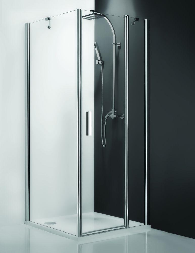 Roltechnik Tower Line TBL/900 oldalfal, szögletes zuhanykabinhoz / balos / 90x200 cm / ezüst profillal / intima üveggel 725-900000L-01-20
