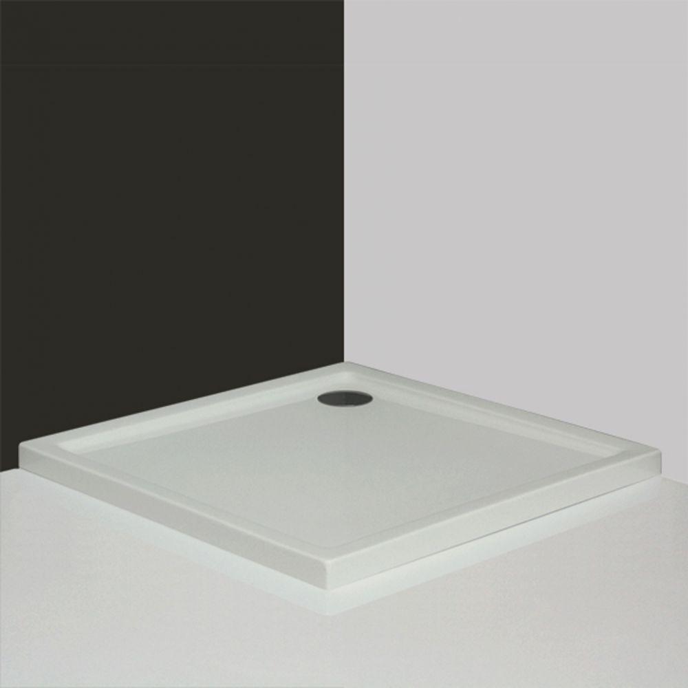 ROLTECHNIK FLAT KVADRO 1000x1000 szögletes akril zuhanytálca, 100×100 cm