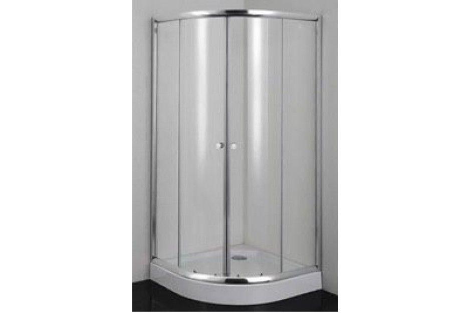 SANOTECHNIK BQ80M / BQ80MS szögletes / sarok zuhanykabin, zuhanytálcával komplett, 80x80 cm-es, króm kerettel / 5 mm-es, matt struktúr biztonsági üveggel, vízlepergető bevonattal