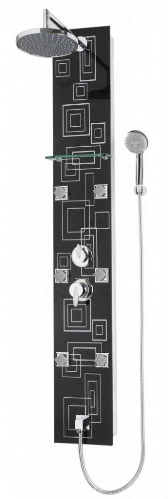 Sanotechnik LYON DG8030 modern mintás zuhanypanel kézi zuhannyal, masszázs funkció, fejzuhany