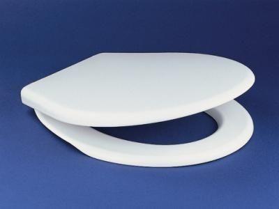 Sanit D1001 WC ülőke / tető  polipropilén, fehér, rozsdamentes fém zsanérral