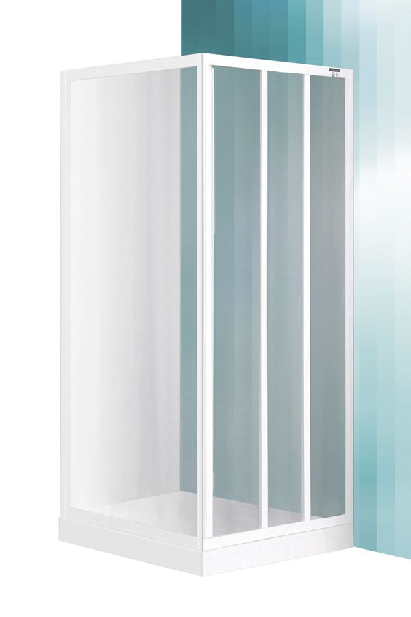 Roltechnik LSB/900 zuhanykabin fix oldalfal / zuhanyfal / fehér profillal / grape üveggel / cikkszám: 216-9000000-04-11 / Sanipro