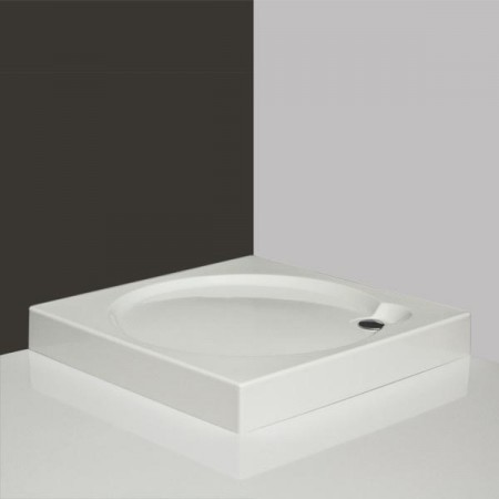 Roltechnik ALOHA-P 900 Szögletes, akril zuhanytálca Greensir merevítéssel / 90×90×12,5 cm-es / cikkszám: 8000149 / Sanipro