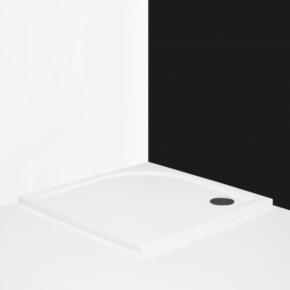 Roltechnik ALOHA-M 800 Szögletes zuhanytálca öntött márványból / 80x80x3 cm-es / cikkszám: 8000155