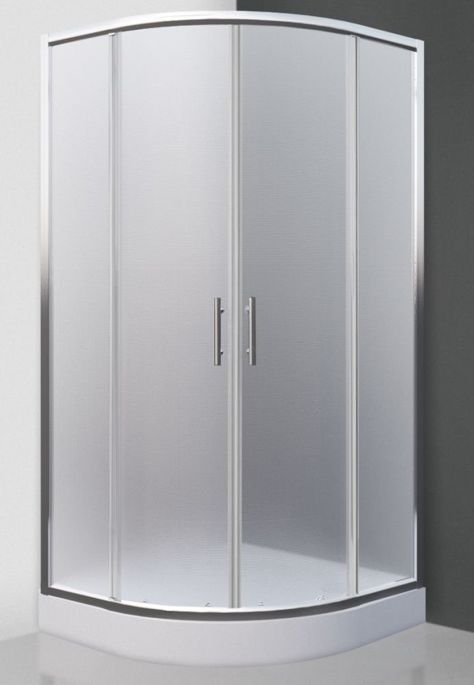 Roltechnik HOUSTON  NEO/900 íves, keretes, görgős zuhanykabin / 90x90 cm / brillant profillal / matt üveggel / N0649 / Sanipro