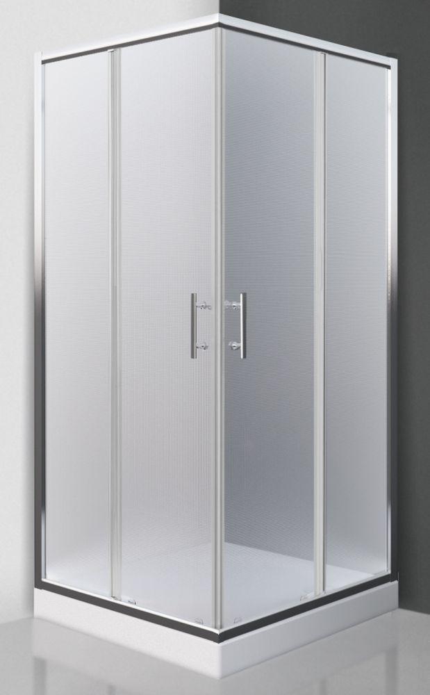 Roltechnik LUZERN NEO/800 négyszögletes, keretes,  görgős zuhanykabin,  zuhanytálca nélkül / 80x80 cm / brillant profillal / matt  üveggel / cikkszám: N0654