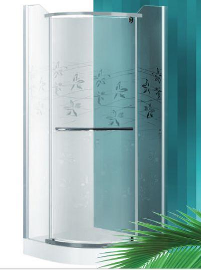 Roltechnik AUSTIN LUX/900 90x90 cm-es íves, keret nélküli, nyíló zuhanykabin / ezüst profillal / transparent (átlátszó) üveggel + mintával / N0712 / Sanipro
