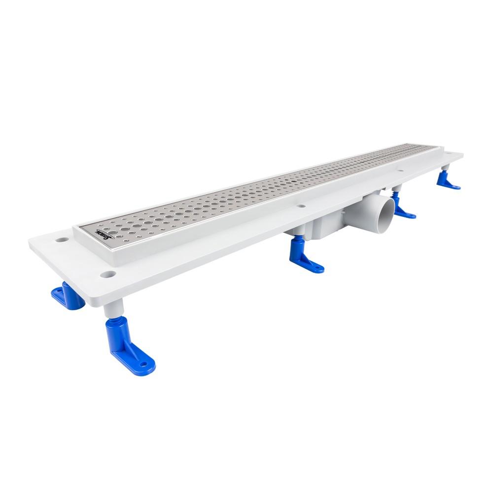 STYRON beltéri zuhanyfolyóka egyenes, rozsdamentes ráccsal, Basic, 800 mm, STY-B-80, Basic 800