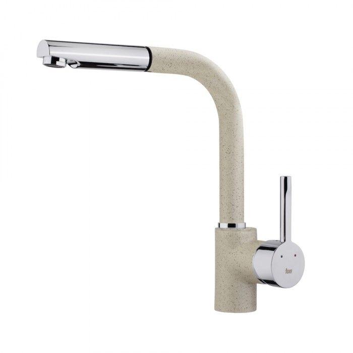 TEKA ARK 938 FM mosogató csaptelep, kihúzható zuhanyfejjel, homokbézs színű, 23.938.12.0S / 23938120S