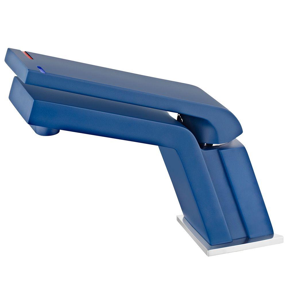 TEKA Icon mosdó csaptelep Cascade kifolyócsővel, vízkőmentes perlátor, ujjlenyomatmentes- és fluoreszkáló felület, kék 33.346.02.0Z / 33346020Z