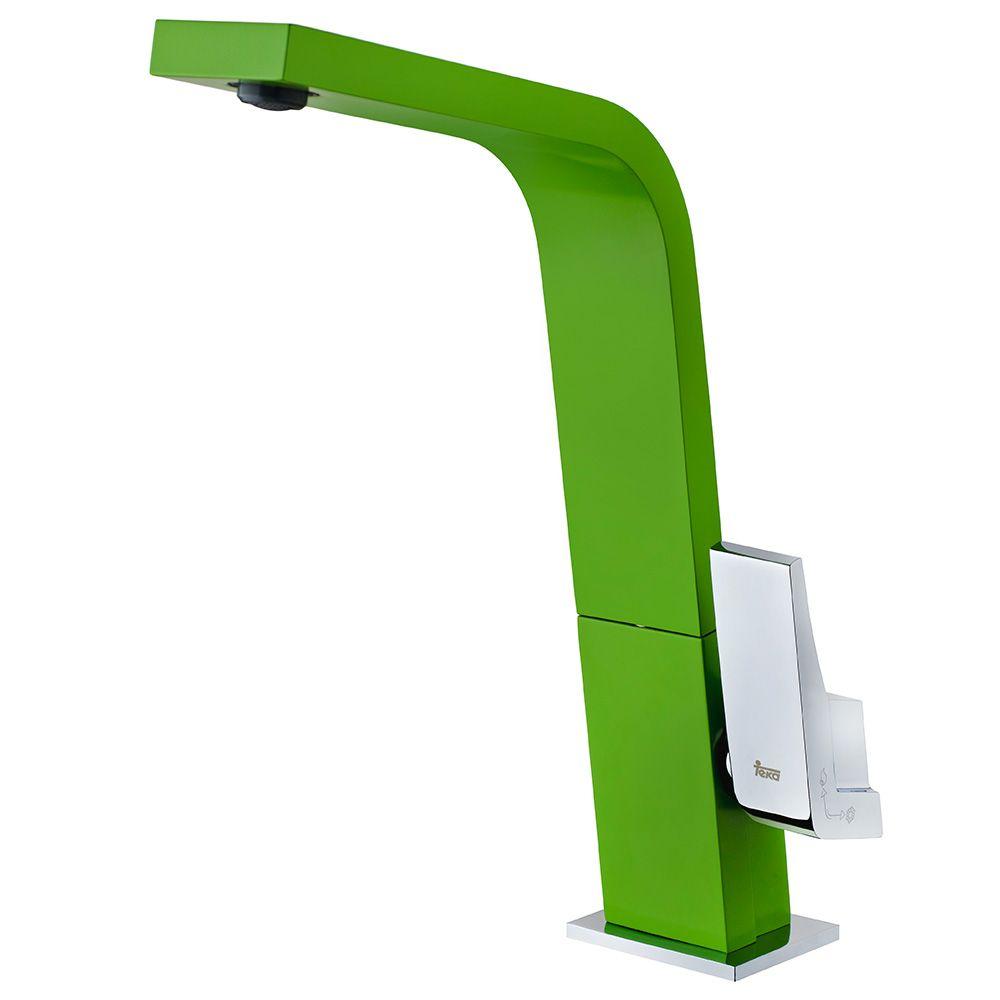 TEKA ICON IC 915 8 álló mosogató csaptelep, forgatható kifolyócső, vízkőmentes kifolyócsőbe integrált perlátor, magas ellenállású festett felület, Zöld 33.915.02.08 / 339150208