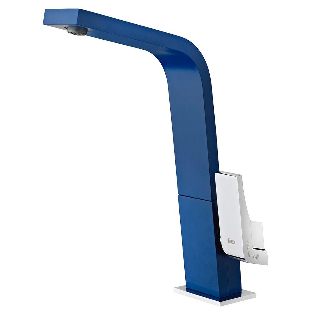 TEKA ICON IC 915 Z álló mosogató csaptelep, forgatható kifolyócső, vízkőmentes kifolyócsőbe integrált perlátor, magas ellenállású festett felület, Kék 33.915.02.0Z / 33915020Z