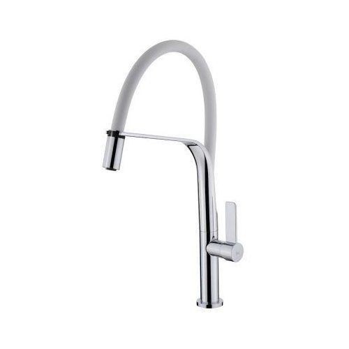 TEKA FO997 Mosogató csaptelep, Fehér, forgatható, rozsdamentes acél flexibilis kifolyócső, vízkőmentes perlátor 62.997.02.0FW / 62997020FW