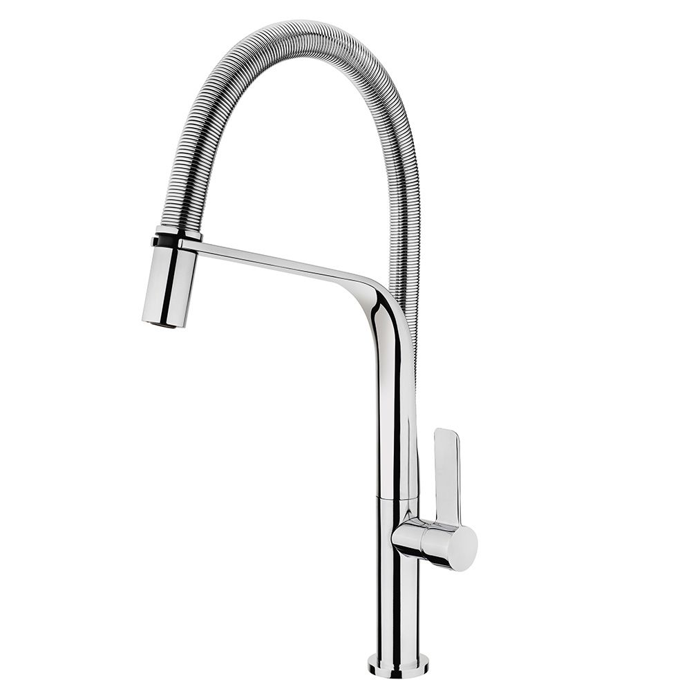 TEKA FO999 Mosogató csaptelep, forgatható , rozsdamentes acél flexibilis kifolyócső, vízkőmentes perlátor, króm 62.999.02.00 / 629990200