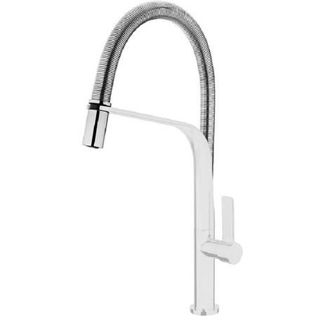 TEKA FO999 Mosogató csaptelep, forgatható , rozsdamentes acél flexibilis kifolyócső, vízkőmentes perlátor, fehér 62.999.02.0W / 62999020W