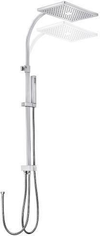 TEKA Universe Cuadro Pro zuhanyrendszer, vízkőmentes zuhanyfej 240x360mm, állítható teleszkópos felszállócső, megerősített fém gégecső 1,5 m 79.002.74.00 / 790027400