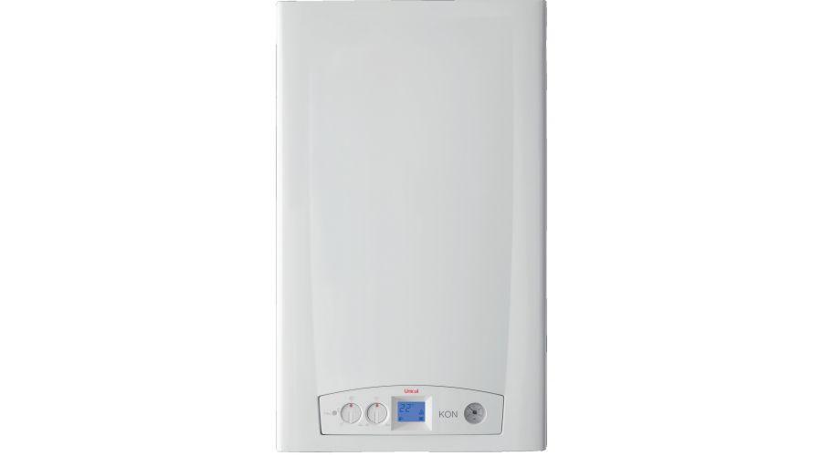 UNICAL KONm C24, 24 kW-os kombi kondenzációs gázkazán / fali kazán, 2,9-22,6 kW, fehér / U101000HU ErP kész