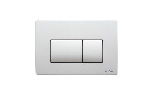 VALSIR nyomólap fehér, Tropea S, Winner, Evolut és Cubik WC tartályokhoz, P1 szögletes mechanikus nyomólap, 2 öblítési mennyiség, ABS műanyag, VS0871301