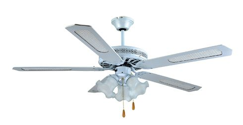 VENTS Mennyezeti / plafon ventilátor, 4 lapát, 3 lámpa, fehér SHD52-4C3LW