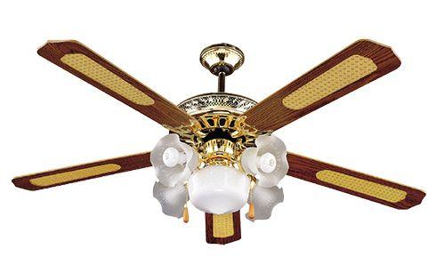 VENTS Mennyezeti / plafon ventilátor, 5 lapát, 5 lámpa, világos réz SHD52-5C5L