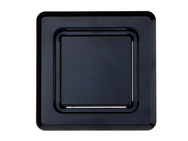 HL905.3 Fekete réselt légbeszívó előlap a HL905.0 falba süllyesztett légbeszívó szelephez