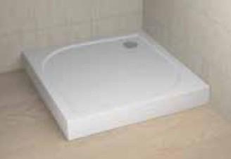 RADAWAY Delos C 90x90 cm szögletes akril zuhanytálca lábbal, előlappal, szifonnal 4C99170-03