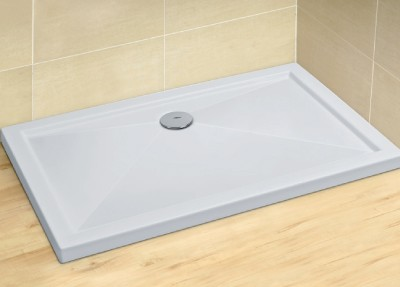 RADAWAY Tilos D 90x80 szögletes akril zuhanytálca, szifonnal 4K8955-03