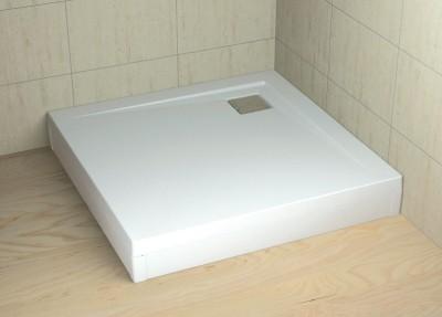 RADAWAY Argos 100 fehér előlap, szögletes akril zuhanytálcához 001-510094004