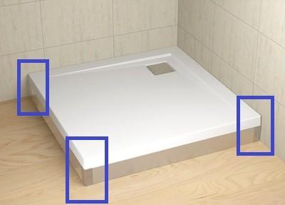 RADAWAY Argos zuhanytálca akril végzáró elem, balos, króm 003-019000101